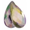 Acrylic 21x12mm Pear Shape Facet Crystal Aurora Borealis